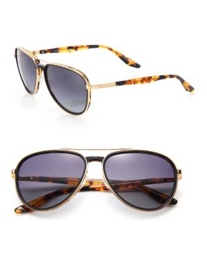Gazarri 60MM Tortoise Polarized Aviator Eyeglasses