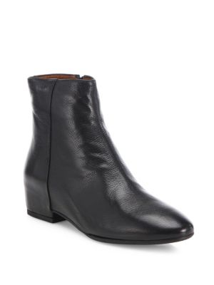 Uri Leather Wedge Booties