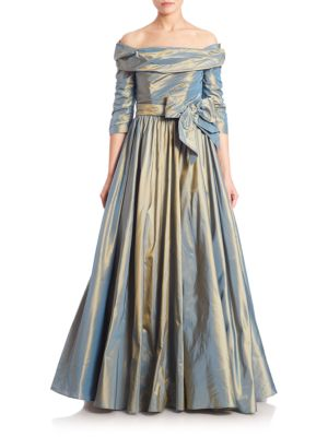 Silk Off-The-Shoulder Ball Gown