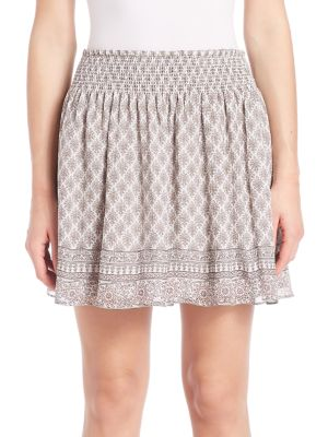 Cabrini Silk Smocked Skirt