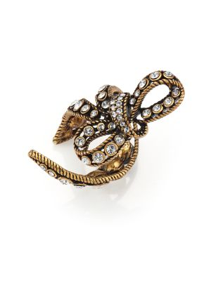 marc jacobs female 265985 crystal bow wrap ring