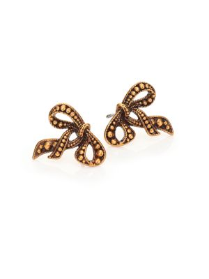 marc jacobs female 220183 embossed bow studs
