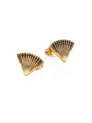 marc jacobs female 220183 fan stud earrings