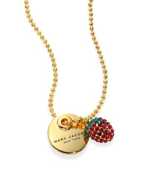 marc jacobs female 220183 strawberry coin pendant necklace