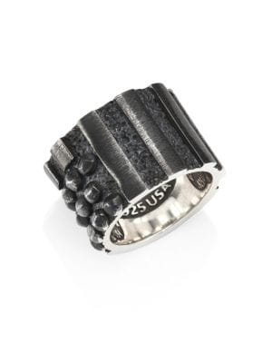 Sterling Silver Riveted Flag Ring