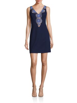 Gabby Embellished Shift Dress