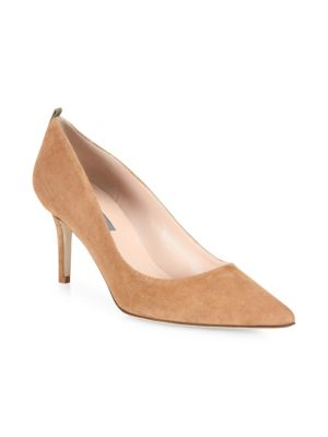 Fawn Point Toe Suede Pumps