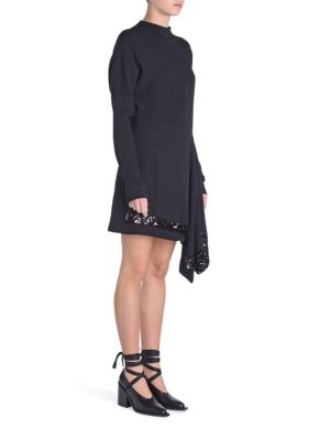 Sequin Tie Crepe Mini Dress