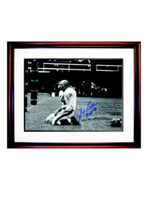 Y.A. Tittle Autographed 'Agony of Defeat Blood' Photo Frame