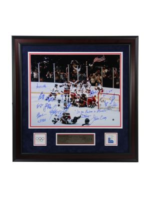 1980UsaHockey Autographed Framed Photograph