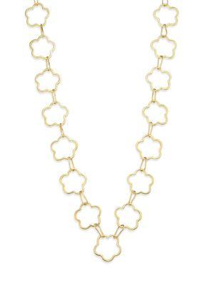 VAUBEL Connected Flower Link Necklace