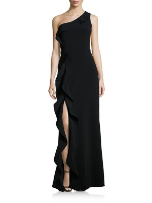 Paxon Ruffle One-Shoulder Gown
