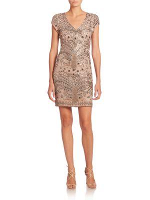 Embellished Silk Dress