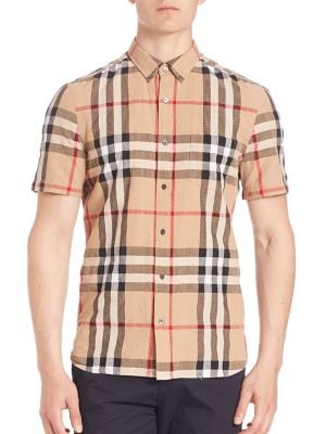 Short Sleeve Check Sportshirt