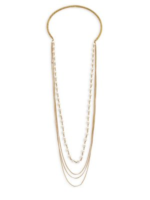 marc jacobs female 220183 rope faux pearl chain choker