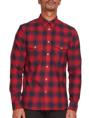 Two-Pocket Plaid Shirt