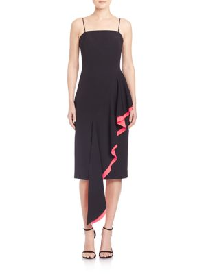 Italian Cady Cascade Layered Dress