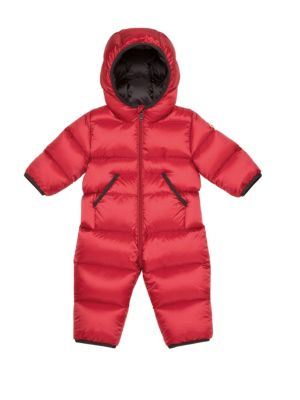Baby's Padded Down Hooded Bodysuit