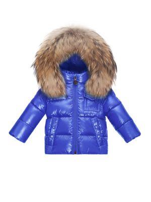Babys FurTrim Puffer Jacket