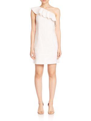 Alexanda Tierra Ruffled One-Shoulder Dress