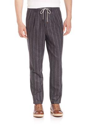 Chalk Striped Drawstring Pants