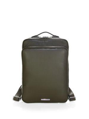 SKITS Cambridge Pebble Grain Leather Tech Backpack