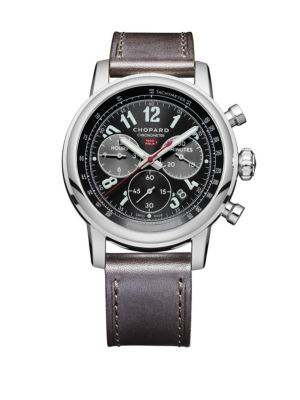 Mille Miglia 2016 Race Edition Stainless Steel & Leather Strap Watch