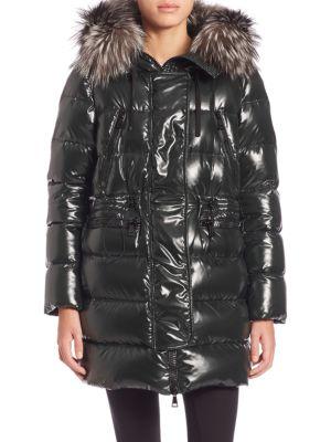 Aphrotiti Fur-Trimmed Puffer Jacket