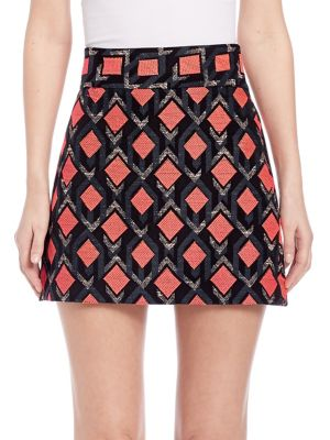 Diamond Jacquard A-Line Skirt
