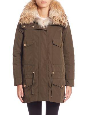 Margarita Fur-Trimmed Jacket & Fur Vest