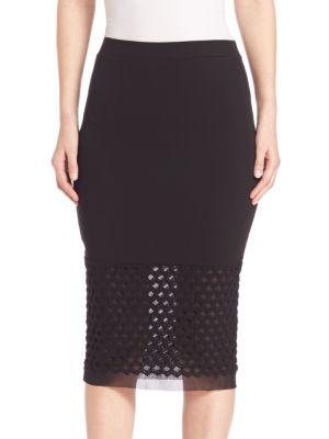 Mesh Inset Skirt