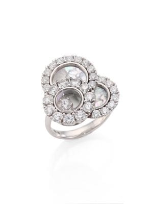 Happy Dreams Diamond, Mother-Of-Pearl & 18K White Gold Ring