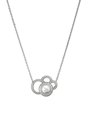 Happy Dreams Diamond & 18K White Gold Pendant Necklace