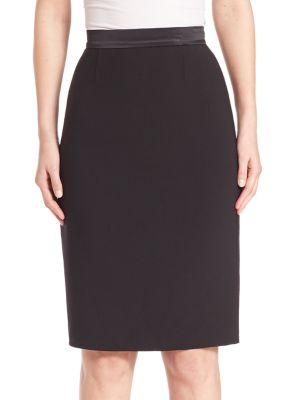 Stretch Wool Pencil Skirt plus size,  plus size fashion plus size appare