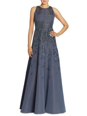 Beaded Silk Faille Ballgown
