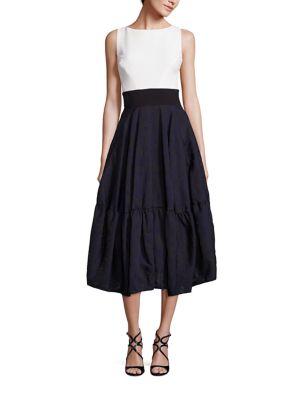 Jacquard Flounce Skirt Dress