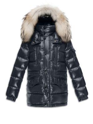 Little Boy's & Boy's Riviere Fox Fur-Trim Down Puffer Jacket