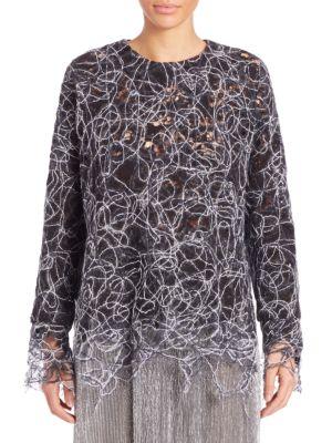 Embroidered Threadwork Sweatshirt