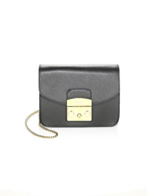 Metropolis Mini Leather Crossbody Bag