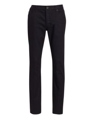 Button-Fly Slim-Fit Jeans