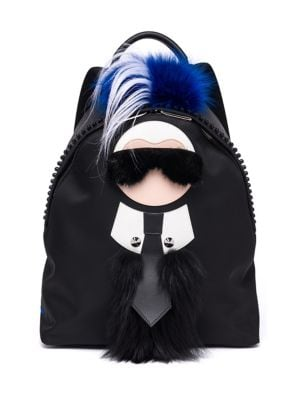 Karlit Fox, Mink, Kidasia & Leather Backpack