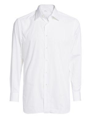BRIONI | Cotton Button-Down Shirt | Goxip