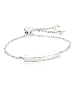 Linear Chain Bracelet/Silvertone