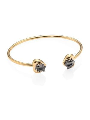 Le Marché des Merveilles Grey Diamond & 18K Yellow Gold Bangle Bracelet