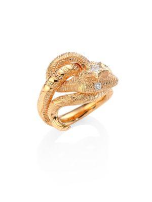 Le Marché Des Merveilles Diamond & 18K Pink Gold Ring