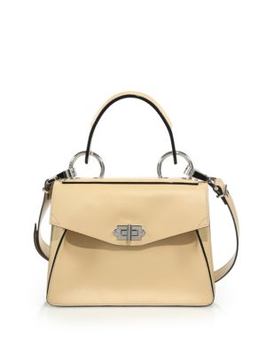 Small Hava Leather Top-Handle Satchel