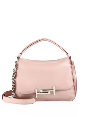 tods female 243279 double t leather messenger bag