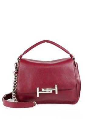 tods female 125046 double t leather messenger bag