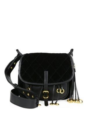 prada female 188971 velvet leather corsaire messenger bag