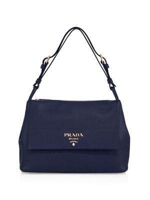 Daino Leather Flap Shoulder Bag